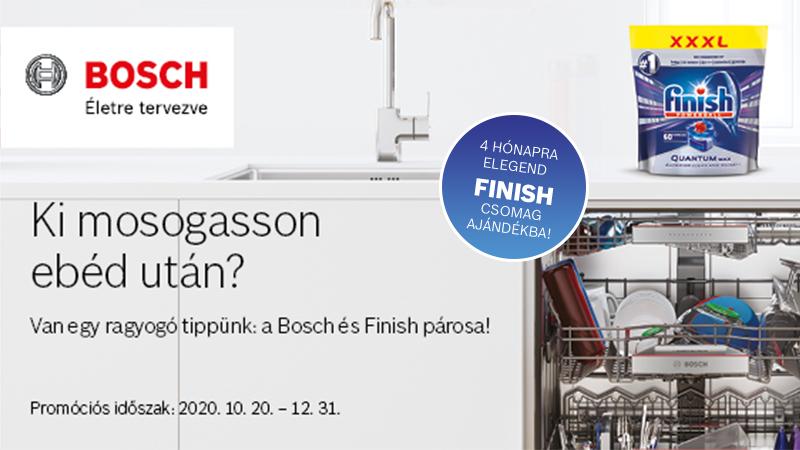 Ki mosogasson ebéd után? Van egy ragyogó tippünk: a Bosch és Finish párosa
