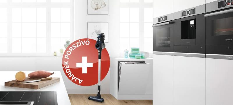 Bosch - A tökéletes konyhai szett. Ajándék vezeték nélküli porszívóval.
