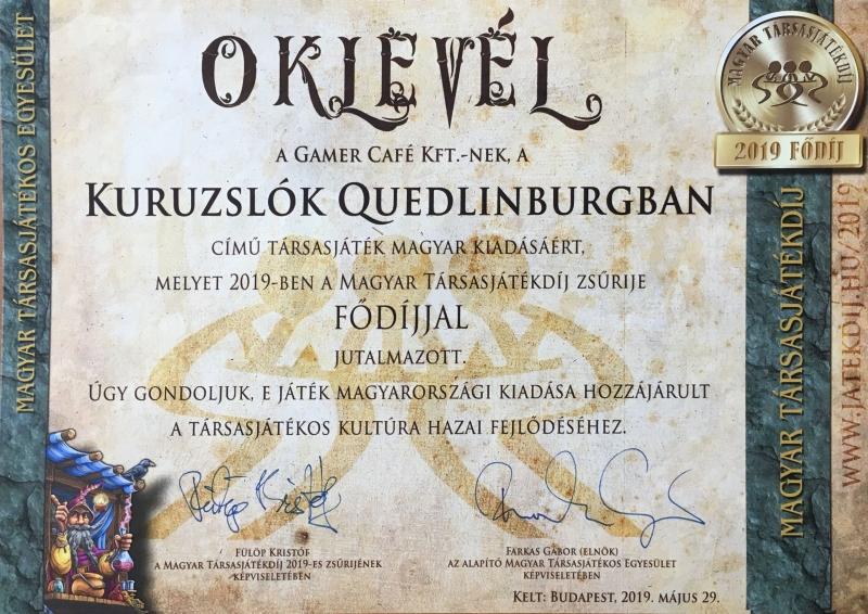 """A Kuruzslók elnyerte a """"Mensa Társasjátékverseny győztese 2019"""" címet!"""